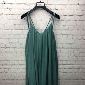 BANANA REPUBLIC GREEN MIDI DRESS #129-21